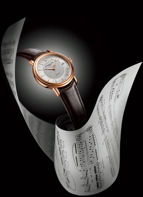 蕾蒙威经典大师玫瑰金大三针腕表