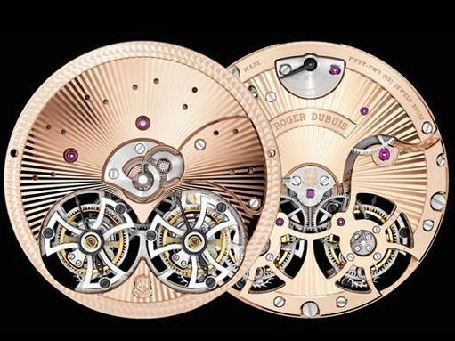 Hommage系列双飞行陀飞轮腕表玫瑰金机芯款,限量发行88枚