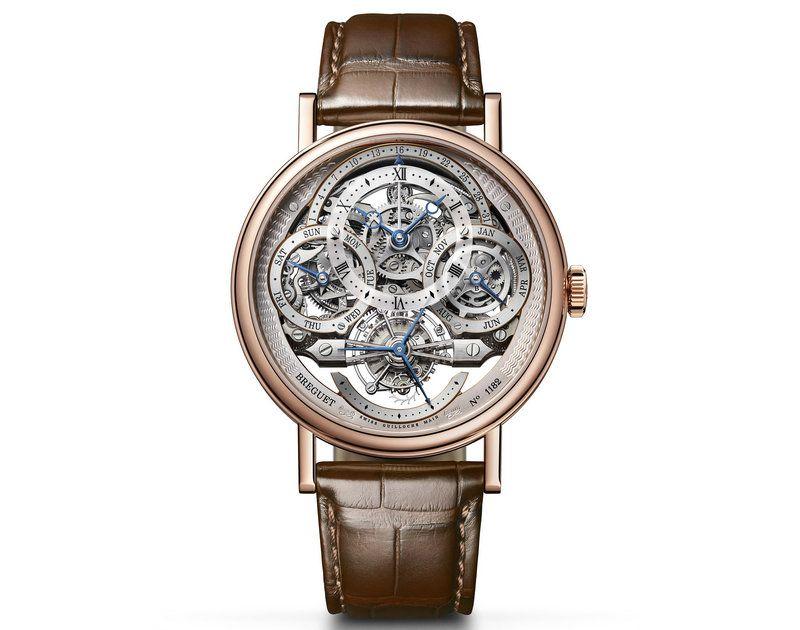 宝玑表经典系列3795陀飞轮万年历腕表 展示镂空之美