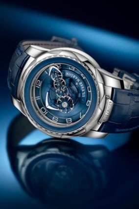 雅典航海主题腕表 全新「奇想蓝色巡洋舰」陀飞轮腕表