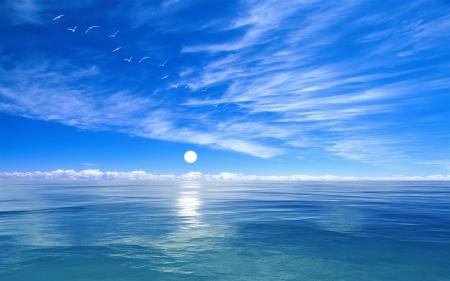 深蓝色海洋背景素材