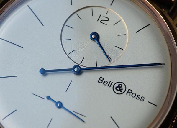 BELL&ROSS柏莱士WW1 Régulateur粉金色腕表