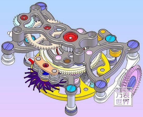 奇翼陀飞轮一号进化版后视图