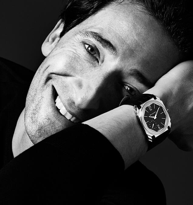 阿德里安·布劳迪演绎全新BVLGARI宝格丽Octo Finissimo腕表大片