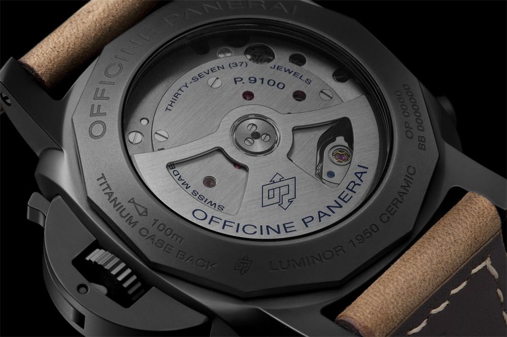 沛纳海LUMINOR 1950 44毫米3日动力储存飞返计时自动陶瓷腕表