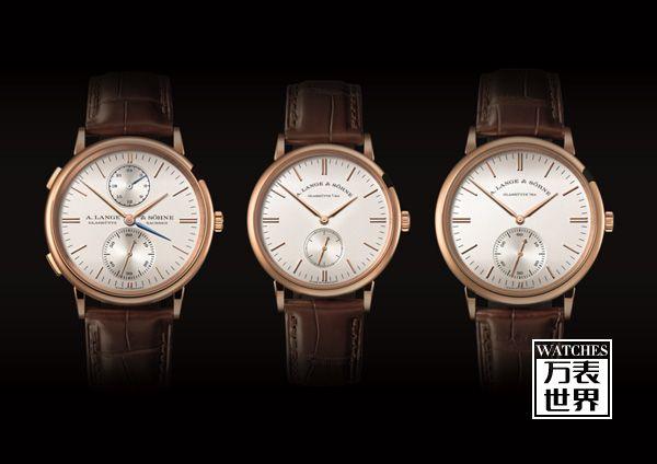 三款朗格SAXONIA经典腕表中的全新设计语言