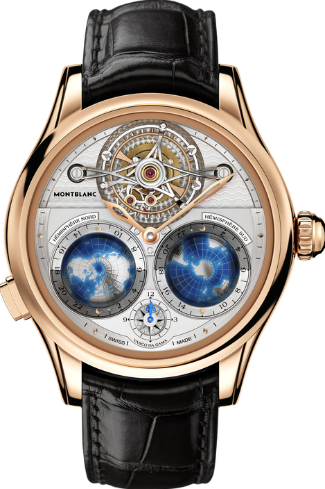 万宝龙维莱尔系列圆柱游丝陀飞轮Geosphères Vasco da Gama限量款腕表