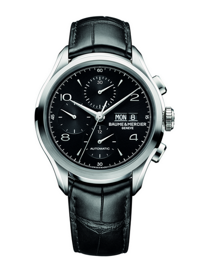 为商务男设计:名表克里顿系列黑色计时腕表