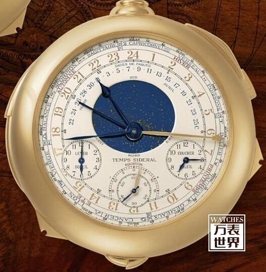 """百达翡丽最贵的手表之二:百达翡丽""""Henry Graves""""超复杂功能怀表"""