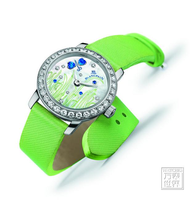Blancpain宝珀女装系列花朵腕表带你欣赏世界的花