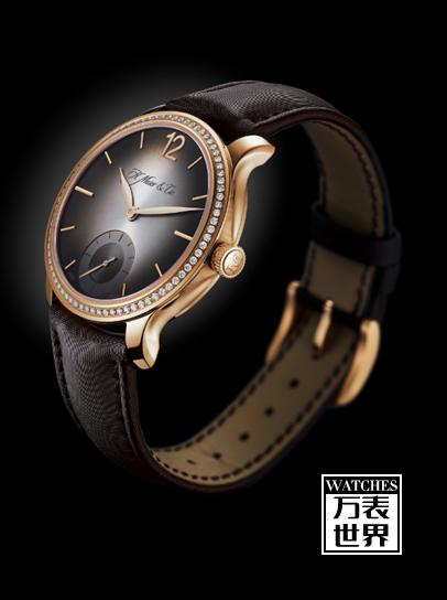 亨利慕时专为女性设计——勇创者小秒针镶钻腕表