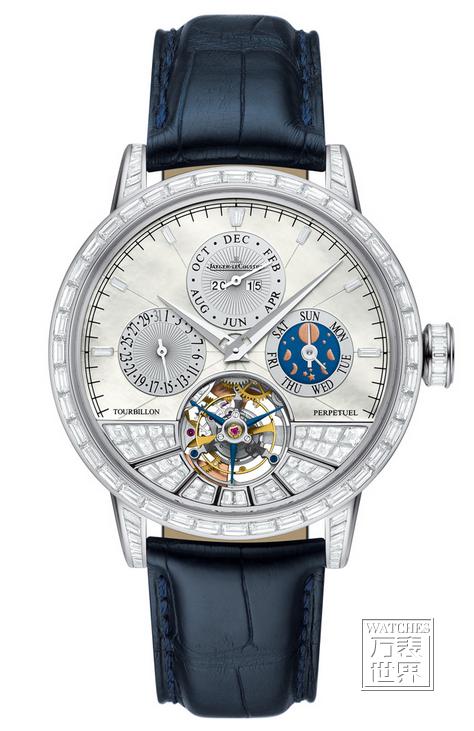 积家于太子珠宝钟表呈献的表坛盛事World Brand Piazza 2015呈现超卓传统万年历圆柱游丝陀飞轮大师系列腕表