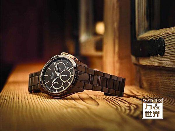 雷达表全新巧克力棕色高科技陶瓷腕表