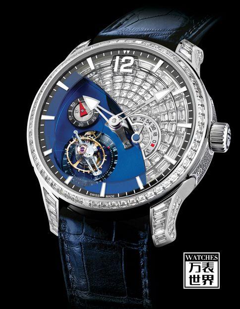 高珀富斯24秒陀飞轮现代艺术闪钻白金镶钻腕表