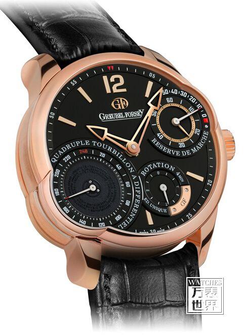 高珀富斯发表Quadruple Tourbillon Secret仅限量8枚的5N红金腕表
