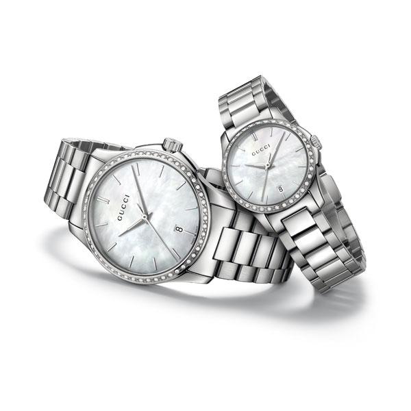 古驰G-Timeless系列新增两个镶钻表款