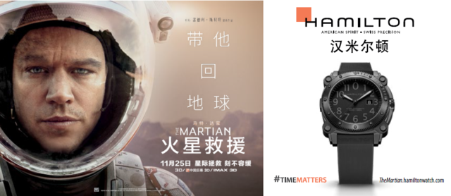 汉米尔顿标志性腕表参演《火星救援》