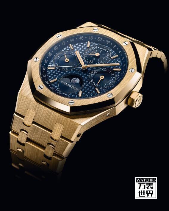 全新皇家橡树系列万年历腕表黄金款首次亮相