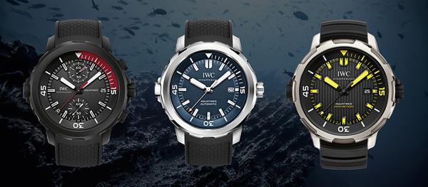 万国表在海洋时计潜水员腕表家族中推出三款全新时计