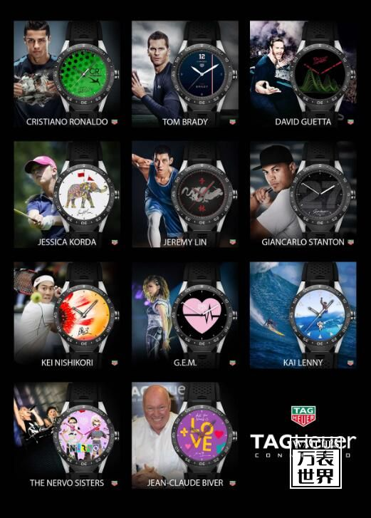 泰格豪雅发布TAG Heuer Connected智能腕表表盘系列