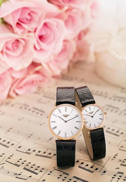 """浪琴情侣手表""""浪漫一生,琴瑟和谐"""""""