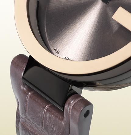interlocking系列 18k玫瑰金质女士手表表带
