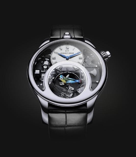 雅克德罗 时光之鸟 18K白金男士机械手表