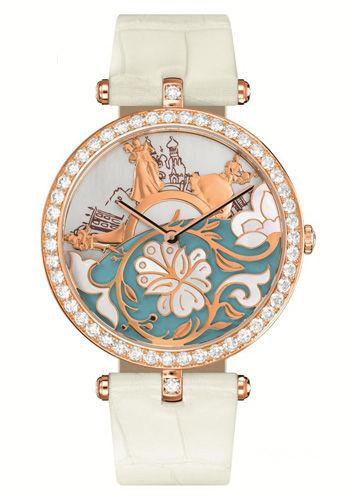 梵克雅宝传奇舞会腕表:粉金表盘间的浮光掠影
