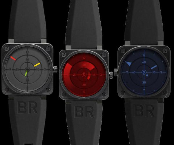 柏莱士BR 01 Radar雷达显示腕表
