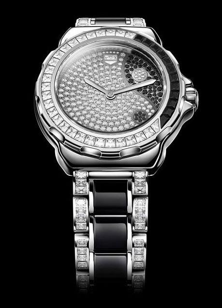 豪雅奢华之作:F1女士系列阴阳太极腕表