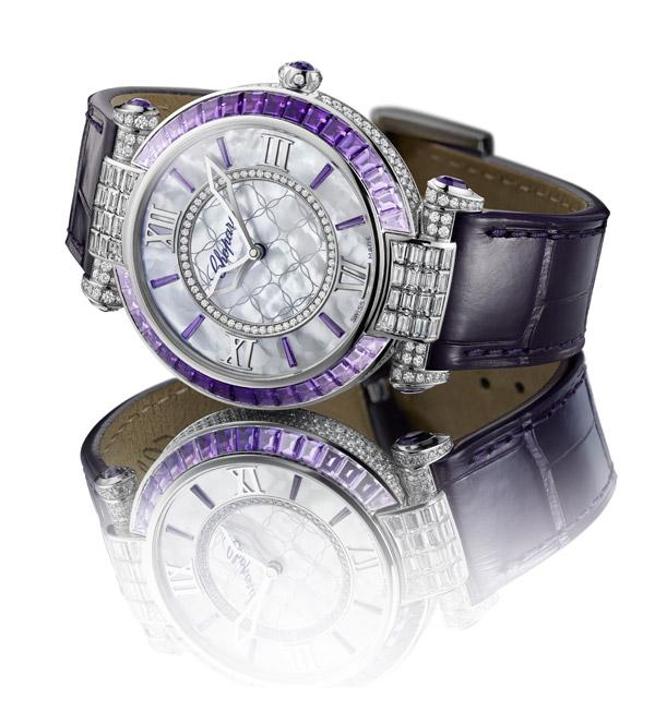 萧邦Imperiale帝王紫自动上链珠宝表