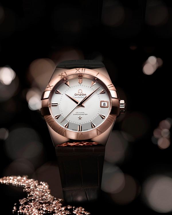欧米茄星座系列Sedna腕表 18K玫瑰金合金表