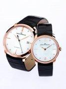芝柏表1966系列男女装纤薄玫瑰金腕表