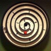 螺旋时钟非凡创意 感受时间滚动的乐趣