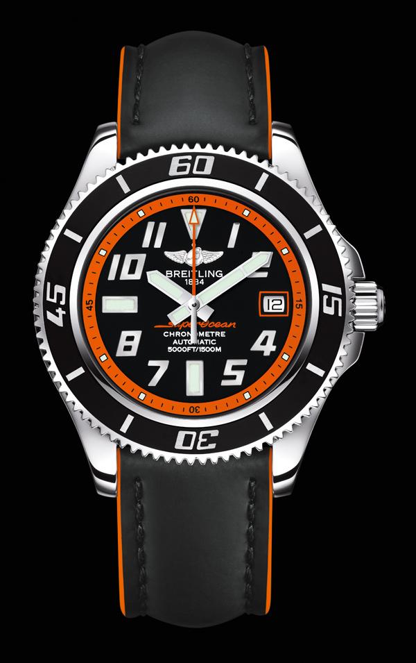 百年灵超级海洋42橙色限量版 照进1500米深海的炫目阳光