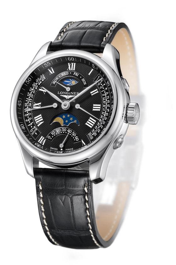 浪琴名匠系列逆跳月相腕表 具备四种逆跳功能