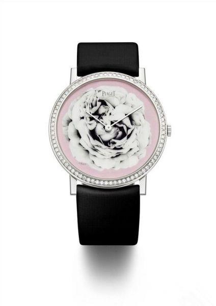 伯爵玫瑰珐琅彩绘腕表 展现完美工艺