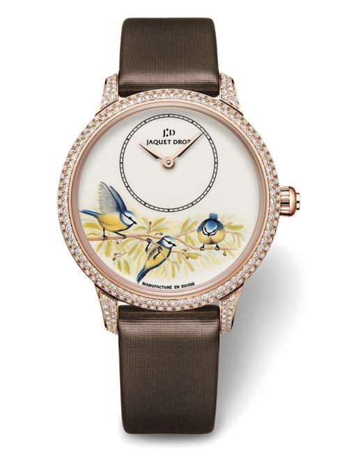 雅克德罗新款微绘珐琅腕表