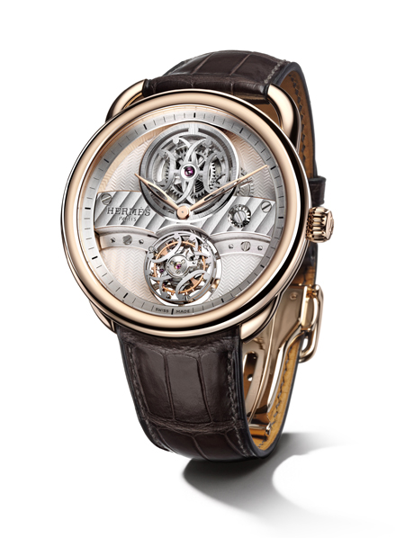 Hermès爱马仕发布新品Arceau Lift飞行陀飞轮手表