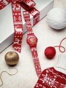 斯沃琪圣诞针织腕表 带来火红圣诞祝福