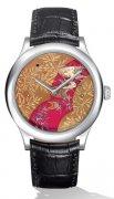 梵克雅宝--日本风景中的溪水与蕨叶图案腕表