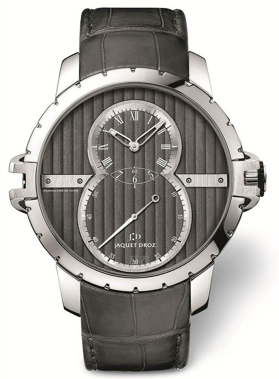 2014巴塞尔表展新品预览:雅克德罗日内瓦条纹大秒针运动腕表