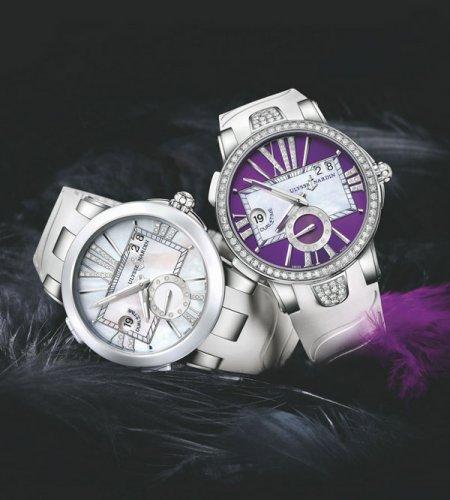 雅典表専利双时区快调装置,双时区系统实用便利型腕表