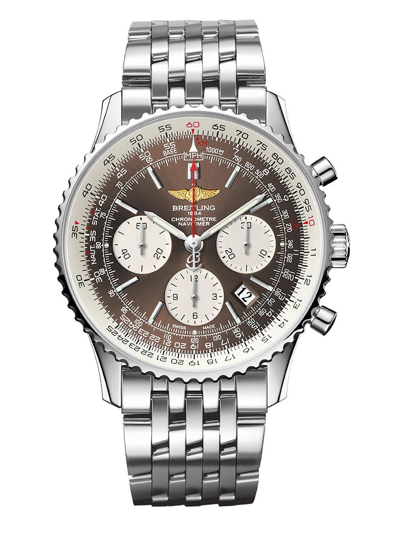 百年灵2014新款 航空计时01泛美青铜版腕表